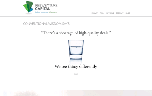 Reinventure Capital Web Design
