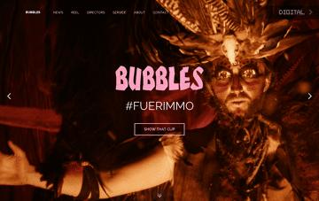 Bubbles Film Web Design