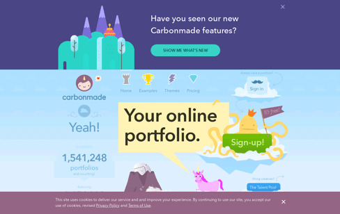 Carbonmade - Your online portfolio Web Design