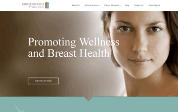 Comprehensive Breast Care Web Design