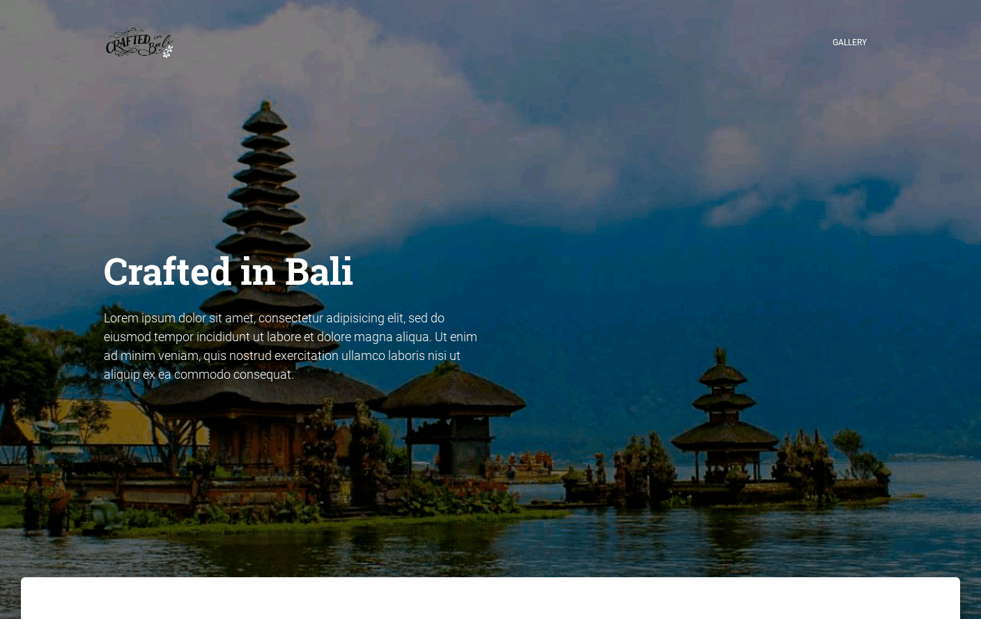 Crafted In Bali