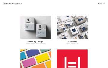 Studio Anthony Lane Logo, Branding and Identity Design Web Design