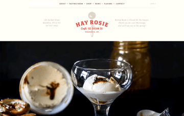 Hay Rosie Craft Ice Cream Web Design