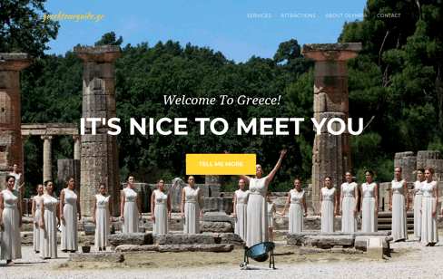Greek tour guide Web Design