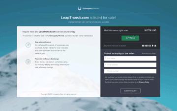 Leap - Your daily commute Web Design