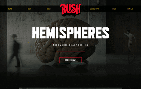 Rush.com Web Design