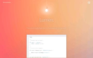Lumen PHP Micro-Framework Web Design