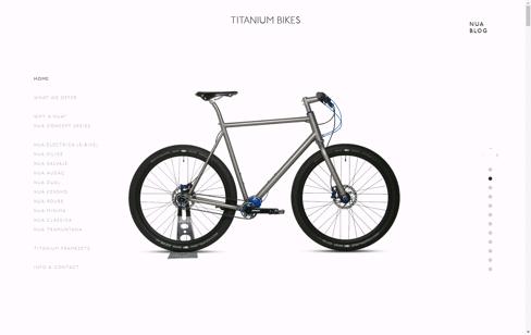 Nua Bikes Web Design
