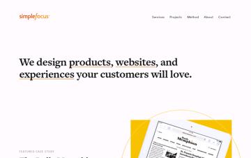Simple Focus Web Design