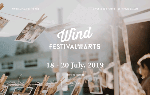 Squamish Wind Festival Web Design