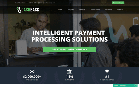 CashBack Corporation Web Design