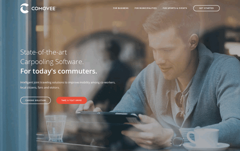 Comovee Mobility Management Web Design
