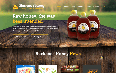 Buckabee Honey Web Design