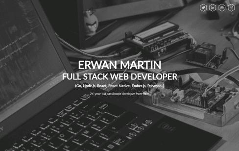 Erwan Martin - Web & Mobile developer from Paris Web Design
