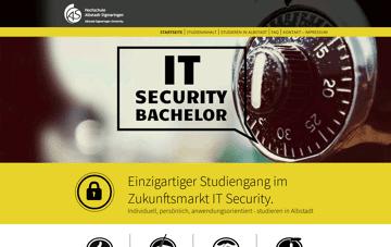Studiengang IT Security Web Design