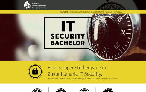 Studiengang IT Security Web Design