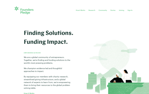 Founders Pledge Web Design