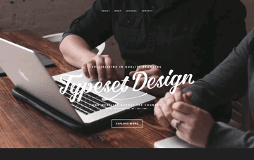 Typeset Design Web Design