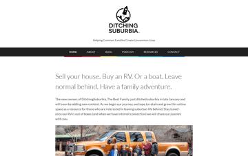 Ditching Suburbia Web Design