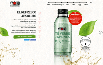 Kyoko Real Green Tea Web Design
