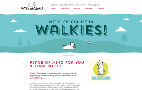 Totally Wagged Out Web Design