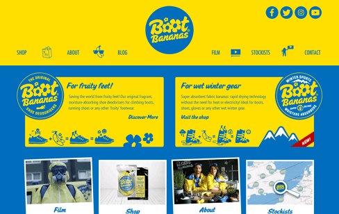 Boot Bananas Web Design