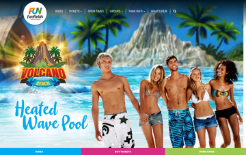 Funfields - Water Park Web Design