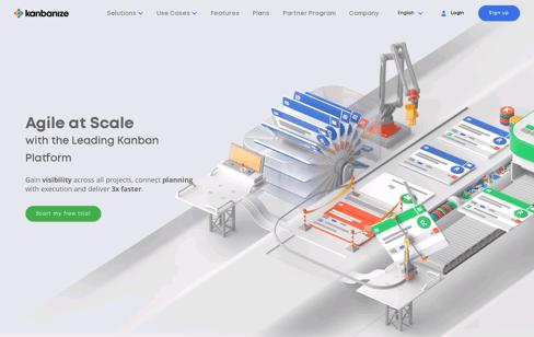 Kanbanize Web Design