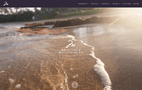 Montage Residences Kapalua Bay Web Design