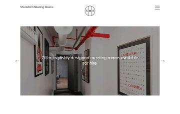 Shoreditch Meeting Rooms Web Design