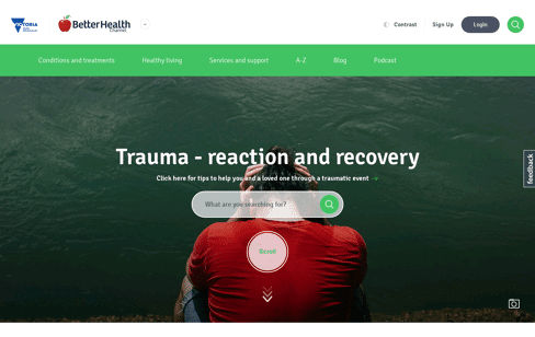 Better Health Channel Web Design