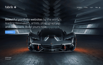 Fabrik online portfolio website Web Design