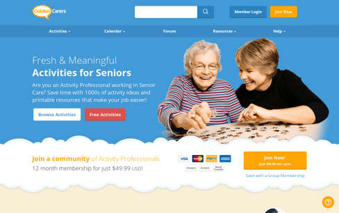 Golden Carers Web Design
