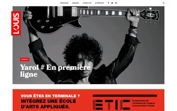 Louis Magazine Web Design