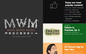 Make Weird Music Web Design