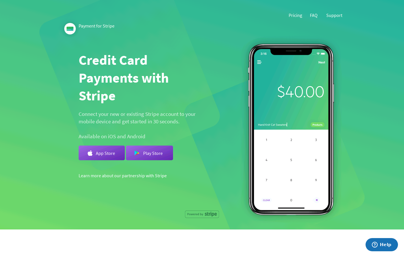 Payment for Stripe