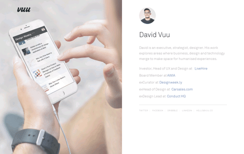 David Vuu, Melbourne Web Design