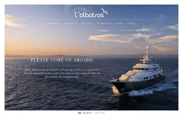 Yacht Albatros Web Design