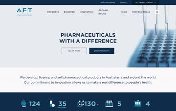 AFT Pharmaceuticals Web Design