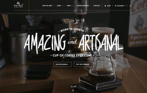 Boréal Coffee Shop Web Design
