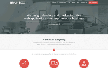 Brain Box Labs Web Design