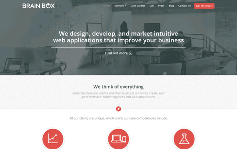 Brain Box Labs Web Design