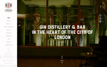 London Gin Distillery Web Design