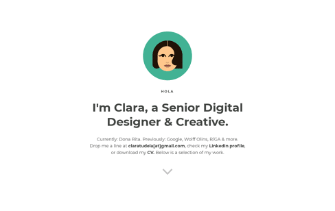 Clara Tudela Web Design