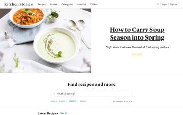 Kitchen Stories Web Design
