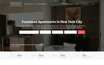 Furnished NYC Apartments Web Design