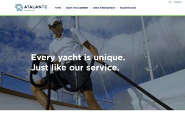 Atalante Yacht Management Web Design