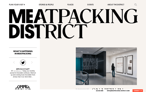Meatpacking District Web Design