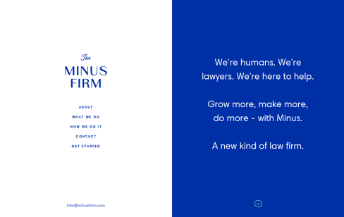 The Minus Firm  Web Design