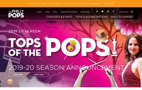 The Philly Pops Web Design